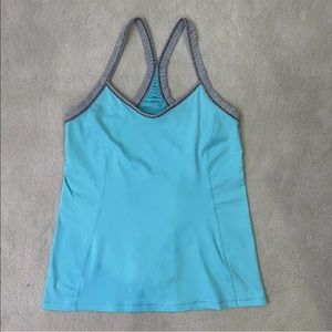 lululemon Tank Top Women Blue Active Wear Sz 8
